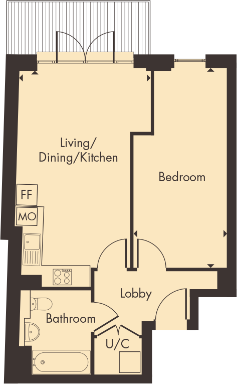 Apartment 6 floorplan
