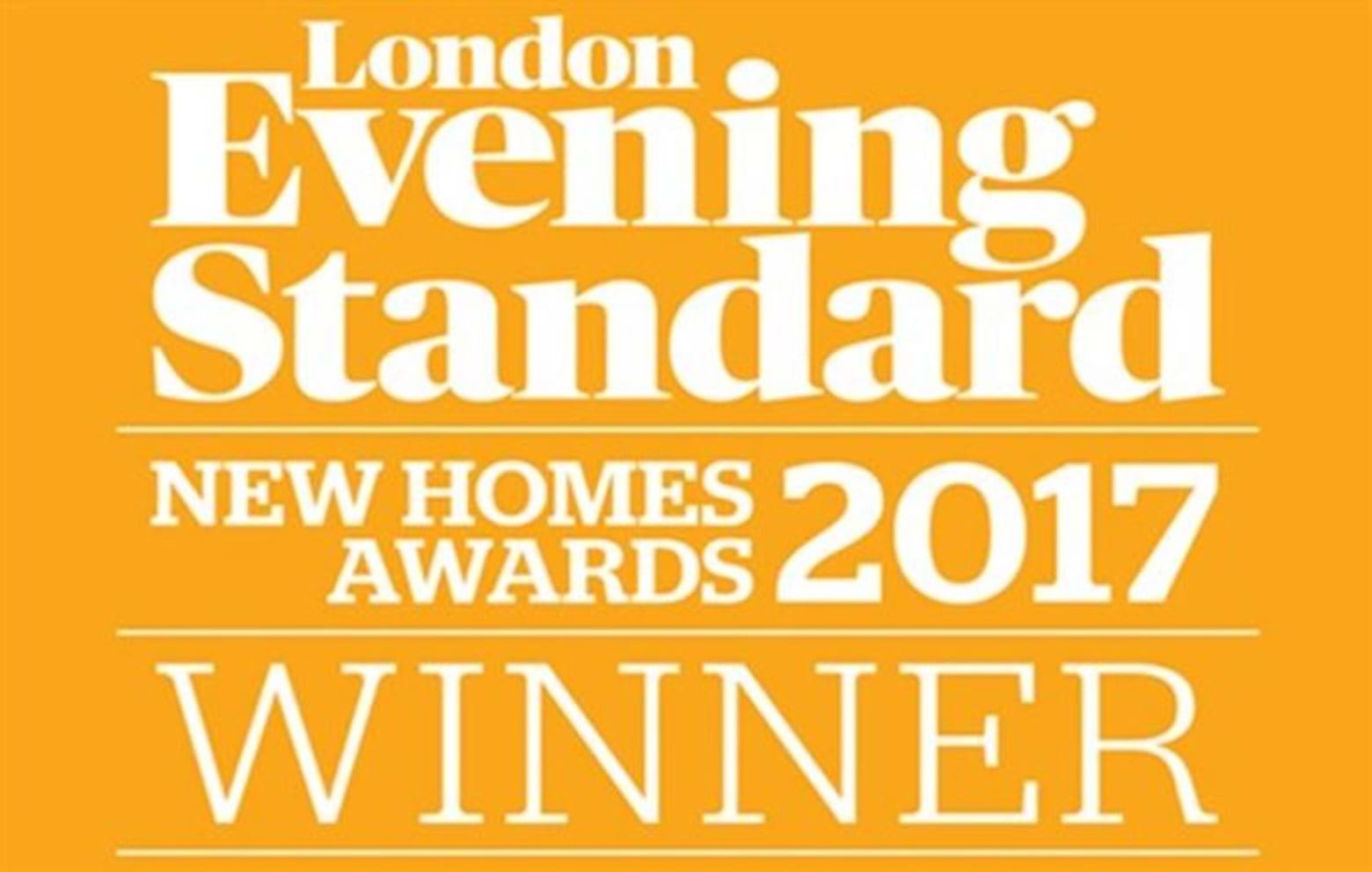 Evening Standared New Homes Awards 2017 Winner