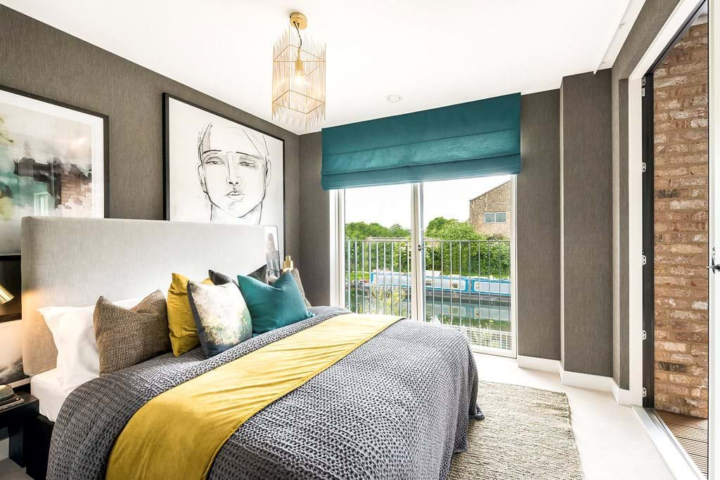 Fish Island Village Shared Ownership Show Home Bedroom River View