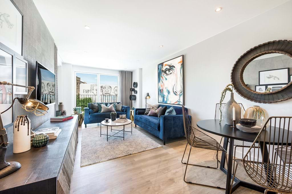 Fish Island Village Shared Ownership Show Home Living and Dining